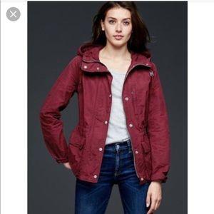 Maroon cargo utility jacket GAP